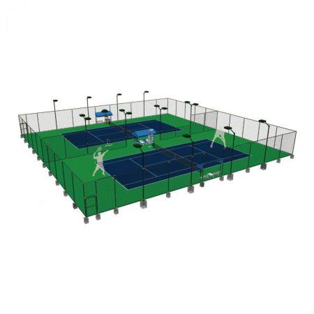 标准网球场组合式围网解决方案